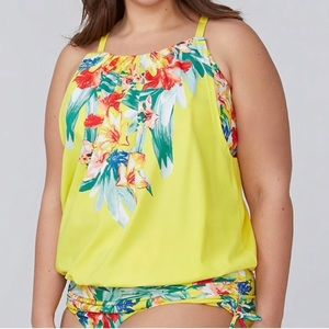 Worn Once Cacique Yellow Floral Swim Top 🌸